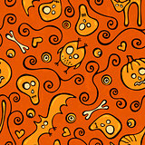 Halloween pattern. Seamless background.