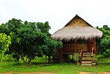 Thai style wooden hut