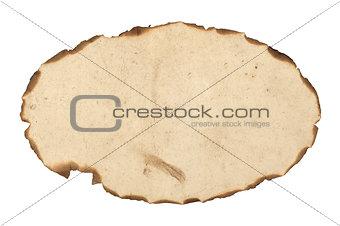 blank burnt paper frame