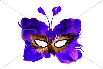 Mask of a butterfly for holidays and carnivals