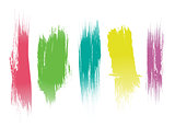 Set of color brushes