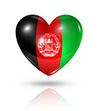 Love Afghanistan, heart flag icon