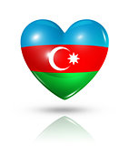 Love Azerbaijan, heart flag icon