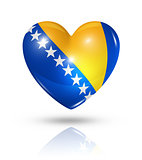 Love Bosnia and Herzegovina, heart flag icon