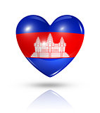 Love Cambodia, heart flag icon