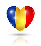 Love Chad, heart flag icon
