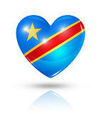 Love Democratic Republic of the Congo, heart flag icon