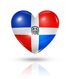 Love Dominican Republic, heart flag icon