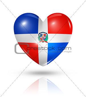 Love Dominican Republic, heart flag icon