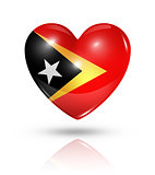 Love East Timor, heart flag icon