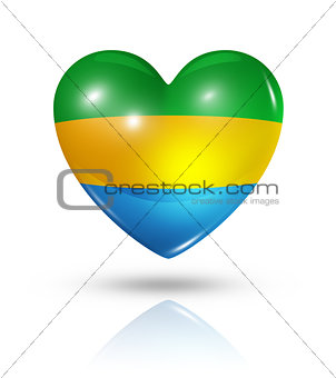 Love Gabon, heart flag icon