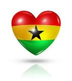 Love Ghana, heart flag icon