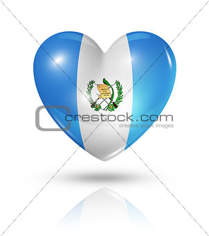 Love Guatemala, heart flag icon