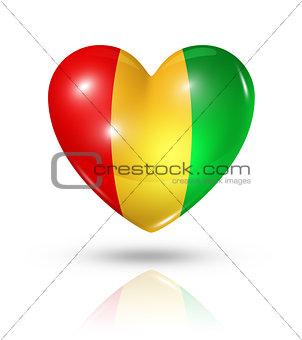 Love Guinea, heart flag icon