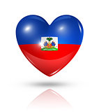 Love Haiti, heart flag icon