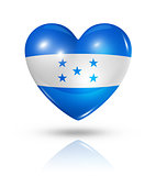 Love Honduras, heart flag icon