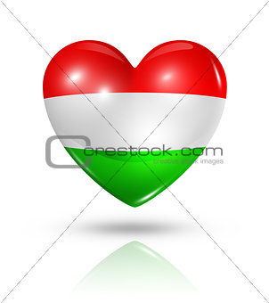 Love Hungary, heart flag icon