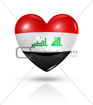 Love Iraq, heart flag icon
