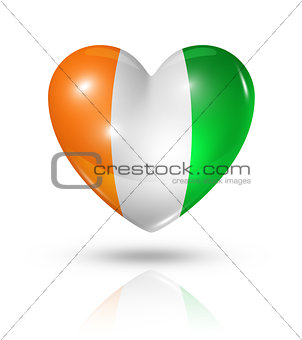 Love Ivory Coast, heart flag icon