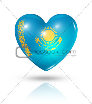 Love Kazakhstan, heart flag icon