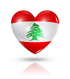 Love Lebanon, heart flag icon