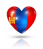 Love Mongolia, heart flag icon