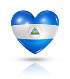 Love Nicaragua, heart flag icon