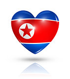 Love North Korea, heart flag icon