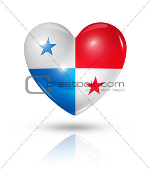 Love Panama, heart flag icon