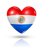 Love Paraguay, heart flag icon