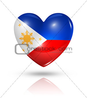 Love Philippines, heart flag icon
