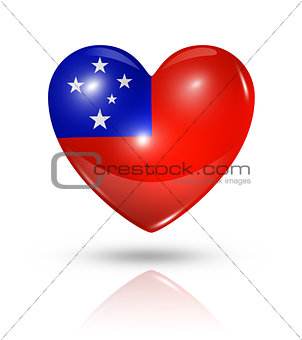 Love Samoa, heart flag icon
