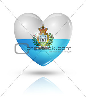 Love San Marino, heart flag icon