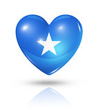 Love Somalia, heart flag icon