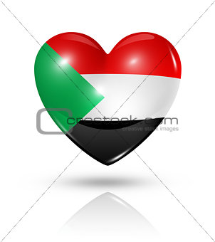 Love Sudan, heart flag icon