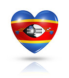 Love Swaziland, heart flag icon