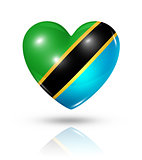 Love Tanzania, heart flag icon