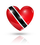 Love Trinidad And Tobago, heart flag icon