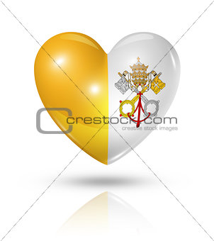 Love Vatican City, heart flag icon