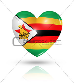 Love Zimbabwe, heart flag icon