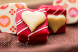 sweet heart shaped chocolates candies