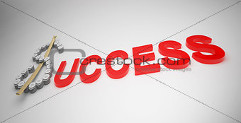 Business in success text
