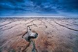 mud on North sea bottom at low tide