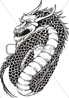 powerful oriental dragon