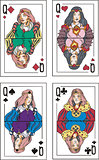 Playing cards. Queens