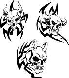Skulls of devils
