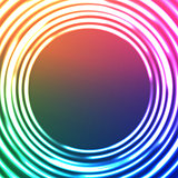 Light Circles Abstract Background. Vector Astral Background.