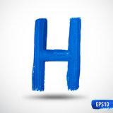 Alphabet Letter H. Watercolor Alphabet. Vector Background
