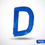 Alphabet Letter D. Watercolor Alphabet. Vector Background