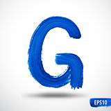 Alphabet Letter G. Watercolor Alphabet. Vector Background